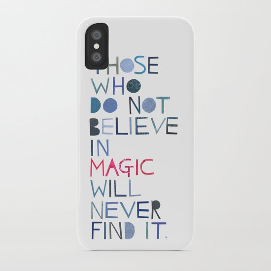 Believe in magic... iPhone Case