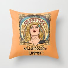 Professor River Song's Hallucinogenic Lipstick 3.0 Throw Pillow
