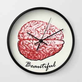 Beautiful Mind - True Intelligence is the Imagination Wall Clock