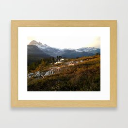Elfin lake twilight Framed Art Print