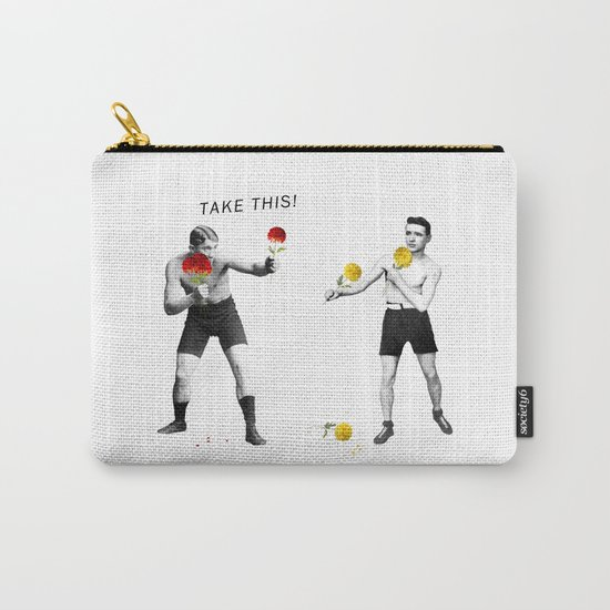 Floral fight - humor Carry-All Pouch