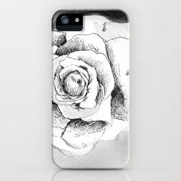 Inked Flower Night II iPhone Case