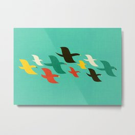 Birds are flying Metal Print