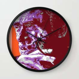 Charles Bukowski - PopART Wall Clock