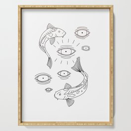 Fish Eyes (B&W) Serving Tray