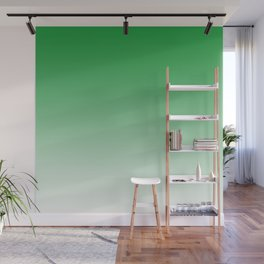 Green Light Ombre Wall Mural