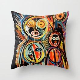 Anima Mia Street Art Graffiti Art Brut Throw Pillow