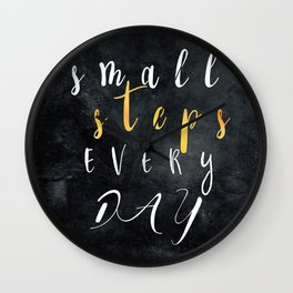 Small Steps Every Day #motivation #quotes Wall Clock