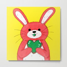 Cookie Bunny Metal Print