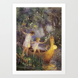 """Boat To Fairyland"" by Margaret Tarrant Art Print"