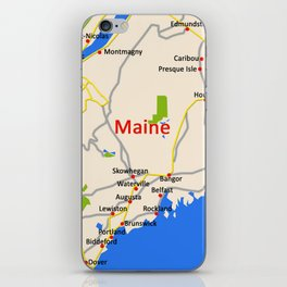 Map of Maine state, USA iPhone Skin