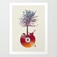 Vinyl Tree 2 Art Print