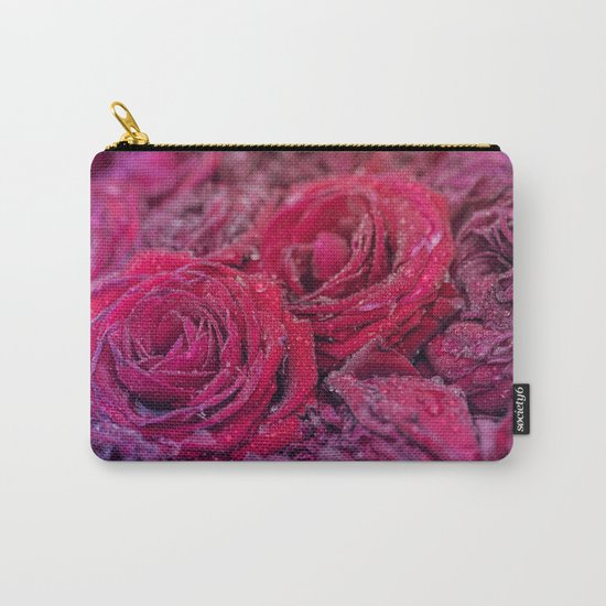 Bed of darkred roses - Red rose bunch Carry-All Pouch