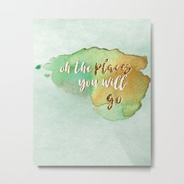 Oh the Places You Will Go /// Dr. Seuss Metal Print