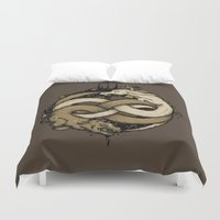 fight Duvet Covers featuring NEVERENDING FIGHT by Letter_q