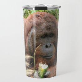 Orangutan in the Grass Travel Mug