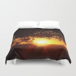 Sunset Silhouettes | Beautiful Nature Duvet Cover