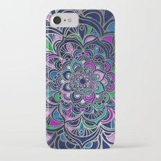 Mandala VII - Navy & Silver iPhone 7 Slim Case