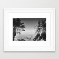 los angeles Framed Art Prints featuring LOS ANGELES by Wesley Bird