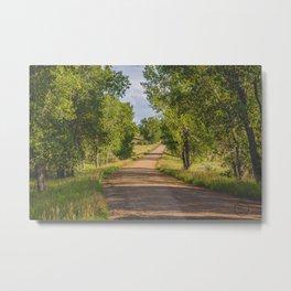 Summer Country Road, Fort Clark, North Dakota 2 Metal Print