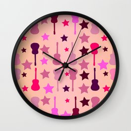 Summer music Wall Clock