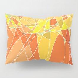 Abstract geometric orange pattern, vector illustration Pillow Sham