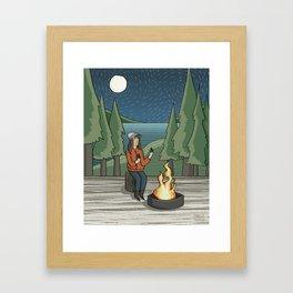 Campfire Girl II Framed Art Print
