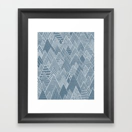 Mountain Pattern Framed Art Print