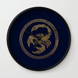 Golden Zodiac Series - Scorpio Wall Clock