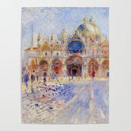 "Auguste Renoir ""The Piazza San Marco, Venice"" Poster"
