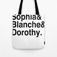 golden girls Tote Bags featuring Golden Girls by pruine