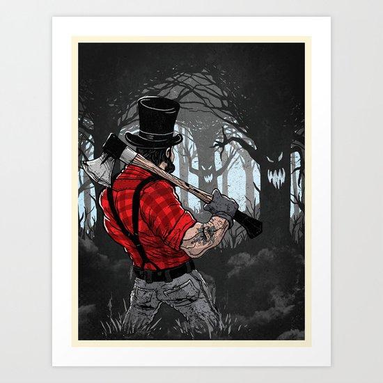 Lumber Abe Art Print
