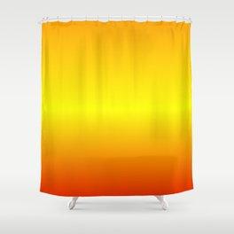 Horizontal Orange, Yellow, Red Gradient Shower Curtain