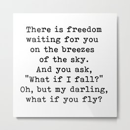 What if you fly? On the breezes of the sky Metal Print