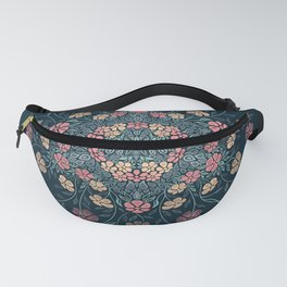 Pretty Pastels Dark Floral Watercolors Fanny Pack