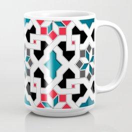 Oriental Pattern - Geometric Design, red / blue / grey Coffee Mug