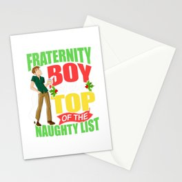 Funny Fraternity Christmas Gift Stationery Cards