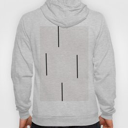 Mudcloth white black dashes vectical Hoodie