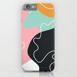 Abstract Graphic Modern Pattern Beautiful Colorful Background iPhone Case