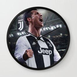 Cristiano Ronaldo Juve CR7 Wall Clock