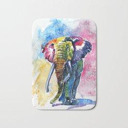Colorful elephant II Bath Mat