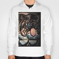 tigers Hoodies featuring TWIN TIGERS by T.H.M.