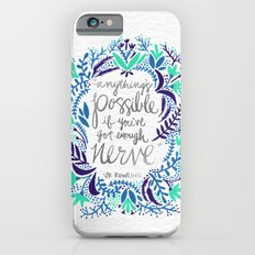 Anything's Possible – Silver & Blue iPhone 6 Slim Case