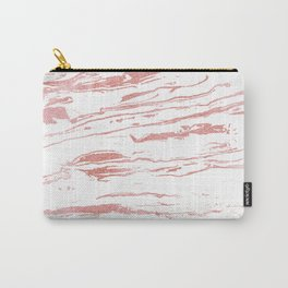 Modern abstract pink marbleized paint. Carry-All Pouch