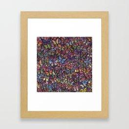 butterfly kaleidoscope square Framed Art Print