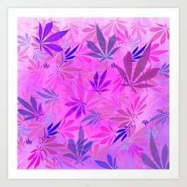 Pink and Purp by Wetpaint420 Art Print