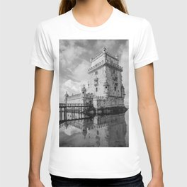 Belem Tower Black white photo T-shirt