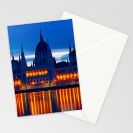The Beautiful Budapest Parliament Building Stationery Cards