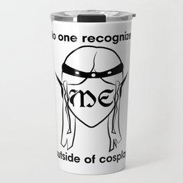 Recognize ELF- black print Travel Mug