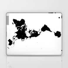 Dymaxion World Map (Fuller Projection Map) - Minimalist Black on White Laptop & iPad Skin